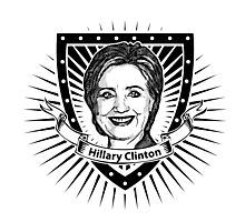 Hillary Clinton shield Photographic Print