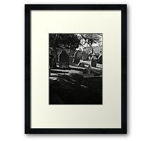 Death Casts It's Shadow Framed Print