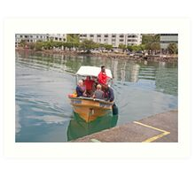 Small boat in St Lucia Art Print