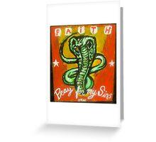 snake handling Greeting Card