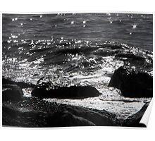 Sea, Shingle and Rocks Poster