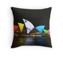 Vivid Sydney Opera House Throw Pillow