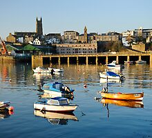Penzance Harbour Boats by DonDavisUK