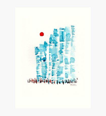 Sunny Blocks Art Print