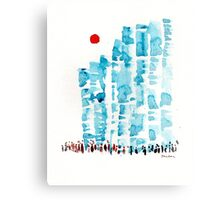 Sunny Blocks Canvas Print