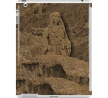 DEPLICTION OF...Jack Sparrow (Johnny Depp) from Pirates of the Caribbean sand sculpture ..PILLOW--TOTEBAG--PICTURE - PRINTS- POSTERS ECT.. iPad Case/Skin