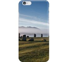 Early morning mist behind Castlerigg Stone Circle iPhone Case/Skin