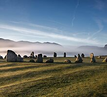 Early morning mist behind Castlerigg Stone Circle by Martin Lawrence