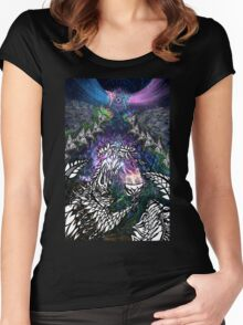 Manifest - Shamanic psychedelic artwork Women's Fitted Scoop T-Shirt