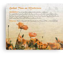 Herbal Teas as Medicines -Headaches Metal Print