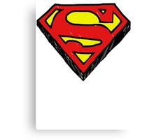 Superman Classic Logo - Handstyle Canvas Print