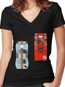 Slot Cars Women's Fitted V-Neck T-Shirt