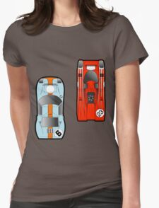 Slot Cars Womens Fitted T-Shirt