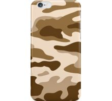 Camouflage Brown iPhone Case/Skin