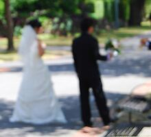 Wedding Day in the Park by Catherine Sherman