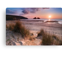 Cornwall - Holywell Bay Canvas Print