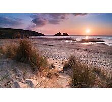 Cornwall - Holywell Bay Photographic Print