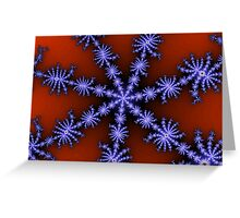 ice crystals Greeting Card