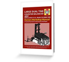 Workshop Manual - Large Dual Tine CB AGV - BW Greeting Card
