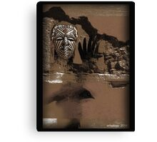 raven shaman Canvas Print