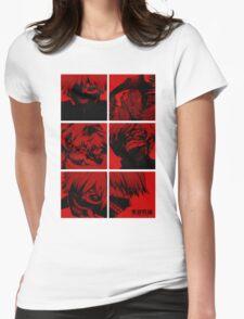 Ken Kaneki Ghoul Womens Fitted T-Shirt