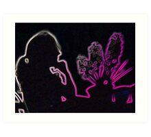 Hyacinths Shadow Art Print