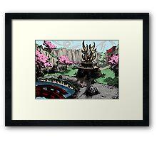 Deer Home Framed Print