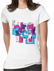 faces neon Womens Fitted T-Shirt