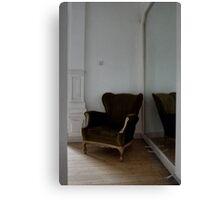 green chair Canvas Print