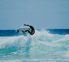 Surfing at snapper rock QLD by mellielee