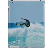 Surfing at snapper rock QLD iPad Case/Skin