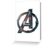 The Avengers-Age of Ultron Logo Greeting Card