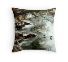Waddle on Ice Throw Pillow
