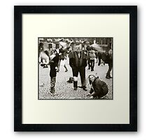 Feeding the Pigeons in Venice Framed Print