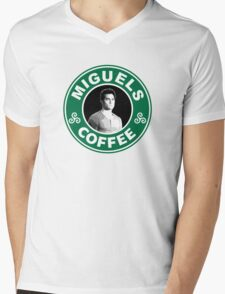Miguels Coffee Mens V-Neck T-Shirt
