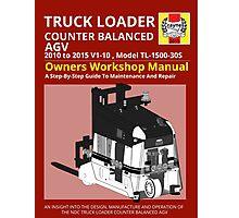 Workshop Manual - Truck Loader CB AGV - BW Photographic Print