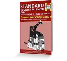 Workshop Manual - Standard CB AGV - BW Greeting Card