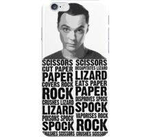 Sheldon, Rock Scissors Paper Lizard Spock iPhone Case/Skin
