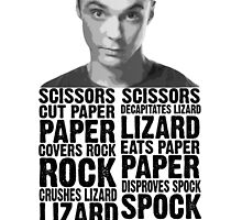 Sheldon, Rock Scissors Paper Lizard Spock by BlueBandalf