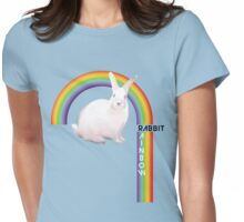 Rainbow Rabbit Womens Fitted T-Shirt