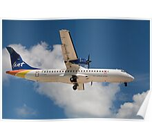 Liat the Caribbean airline over Maho Beach in St Maarten Poster