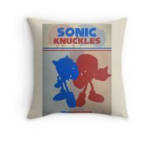 Megadrive - Sonic and Knuckles Throw Pillow
