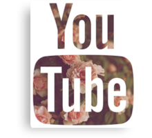 New Floral YouTube Canvas Print