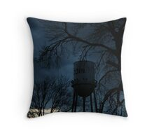 Stormy Tower Throw Pillow