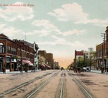 1910 Kansas City, KS Minnesota Avenue KCKS from antique postcard. by Steve Sutton