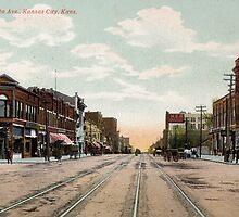 1910 Kansas City, KS Minnesota Avenue KCKS from antique postcard. by Steve Sutton