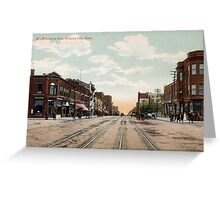 1910 Kansas City, KS Minnesota Avenue KCKS from antique postcard. Greeting Card