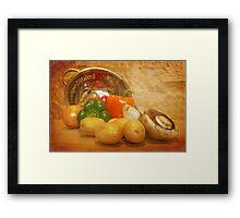 Cascading Vegetables Framed Print