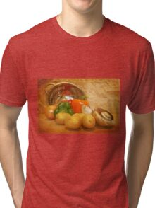 Cascading Vegetables Tri-blend T-Shirt