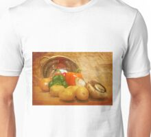 Cascading Vegetables Unisex T-Shirt